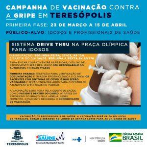 Campanha de vacinação contra a gripe em Teresópolis RJ começa na segunda, dia 23, pelos idosos e profissionais de saúde