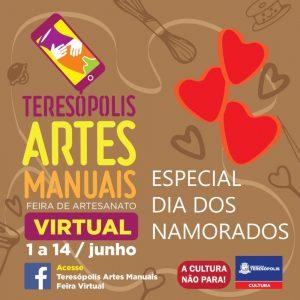 Cultura realiza edição Dia dos Namorados da Feira Artes Manuais Teresópolis